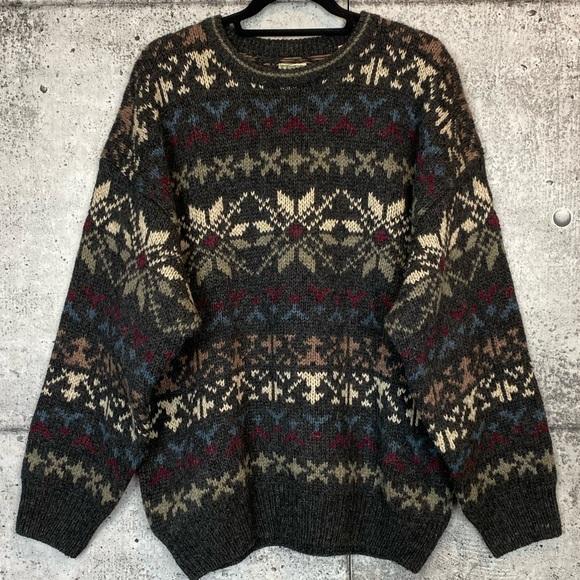 Vintage Sweaters - Vintage // 100% Wool Fair Isle Sweater